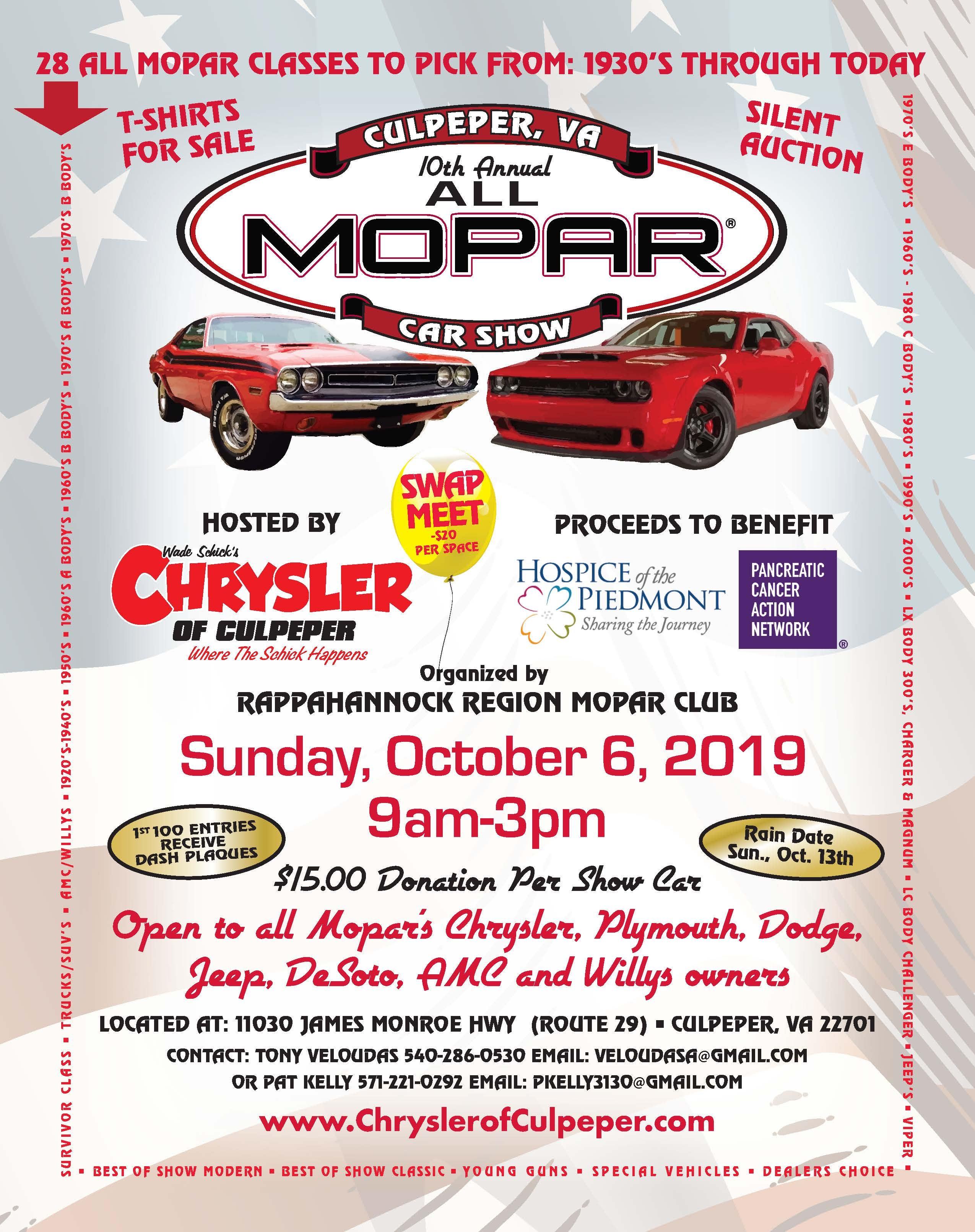 10th Annual All Mopar Car Show